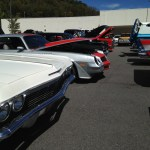 Waynesville Chevy's 3rd Annual Disabled American Veteran's Classic Car show vehicle lineup shot 1