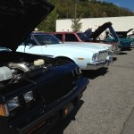 Waynesville Chevy's 3rd Annual Disabled American Veterans Classic Car Show vehicle lineup shot 2
