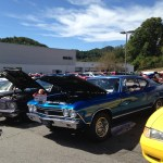 Classic Car line up picture Waynesville Chevy 3rd DAV Car Show