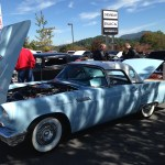 powder blue ford thunderbird waynesville chevy 3rd disabled american veterans classic car show