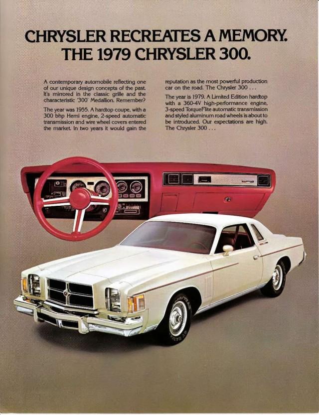 Advertisement for the 1979 Chrysler Cordoba 300