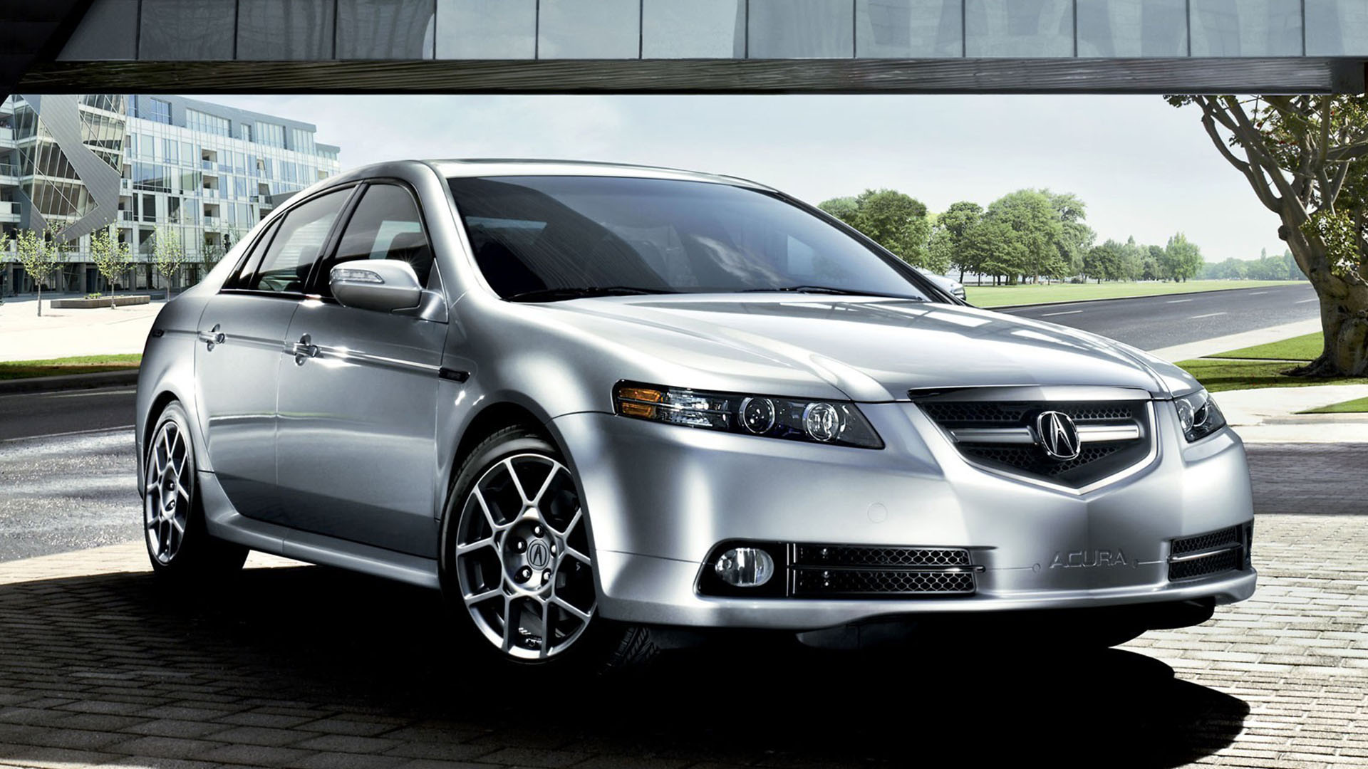 hight resolution of front view of a silver acura tl type s