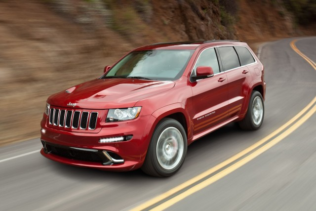 A Red 2012 Jeep Grand Cherokee SRT-8