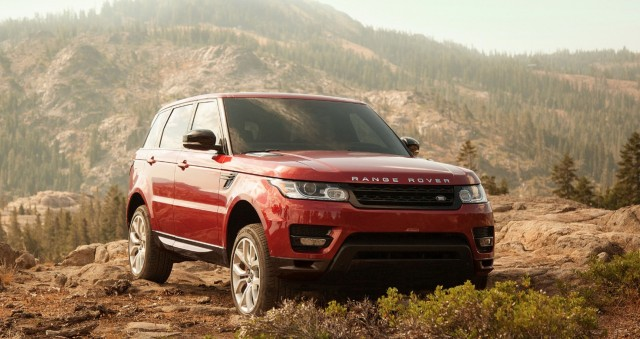 Red 2015 Range Rover Sport Supercharged