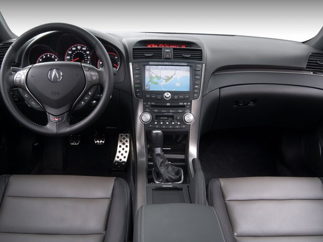 Forward view of a 2008 Acura TL Type-S interior