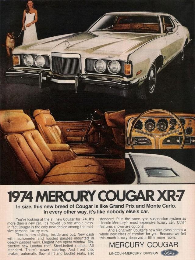 1974 Mercury Cougar ad
