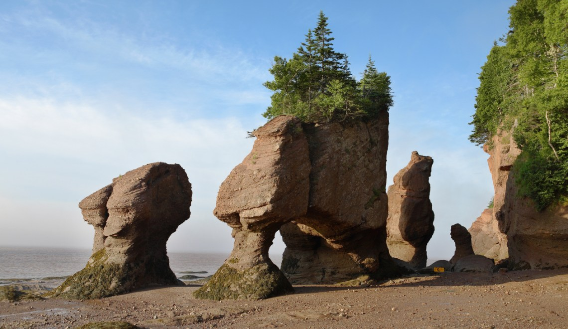Flowerpot rock - Hopewell Rocks - low tide. Ohio National Parks