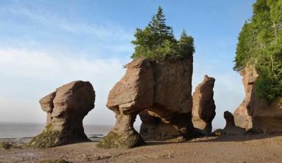 Flowerpot rock - Hopewell Rocks - low tide. Ohio National Parks