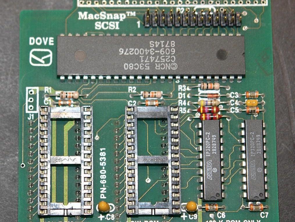 Carte MacSnap SCSI pour Macintosh 128 ou 512