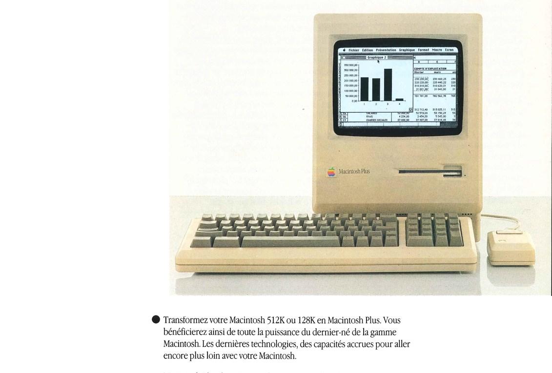 Brochure Apple : La mise à niveau Macintosh Plus