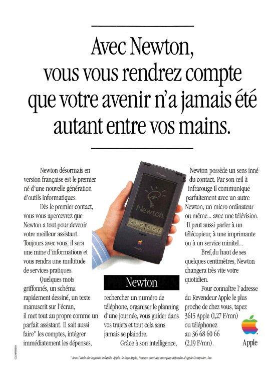 Publicité de 1994 pour le Newton d'Apple