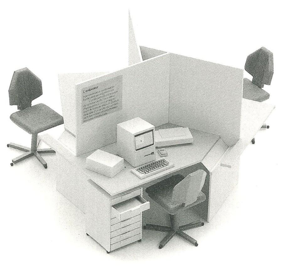 Gros plan de la Maquette du revendeur agréé Apple en 1984