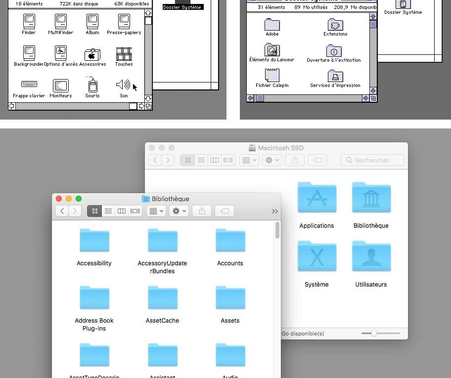 Système 6, Système 7.5.3 et Mac OS X