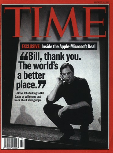"""Couverture du Time : """"Bill, Thank you. The world's a better place""""."""