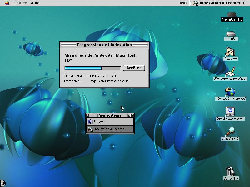 1998 Apple Mac OS 8.5 Sherlock search indexation
