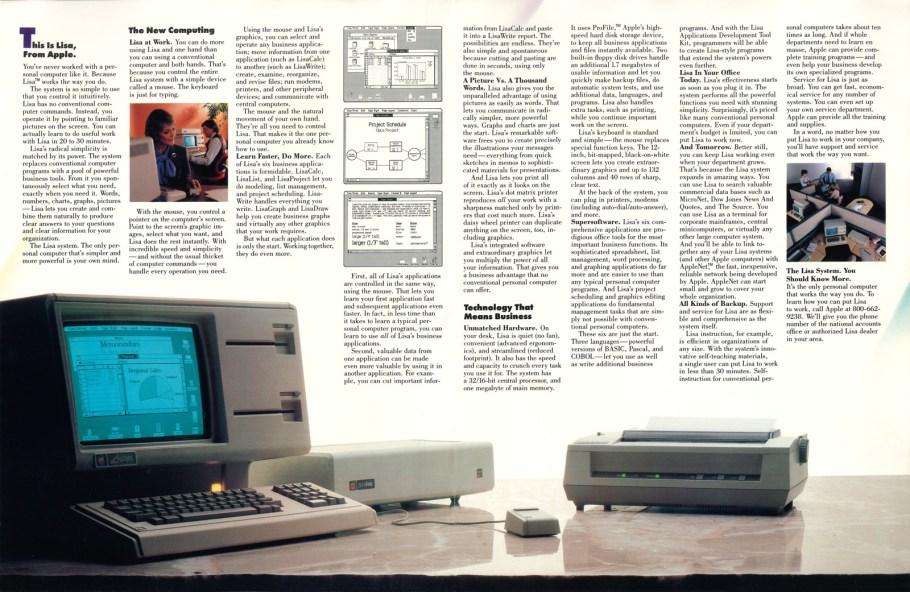 Apple Lisa Foldout Ad