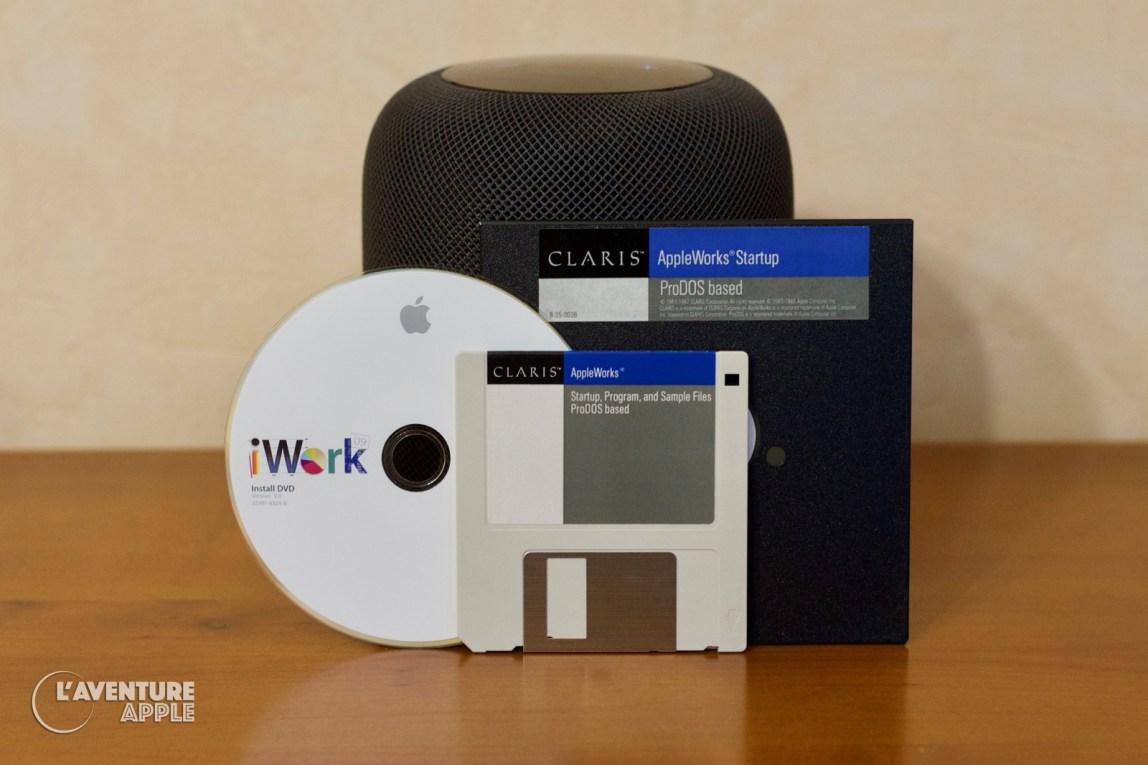 Disques et DVD de iWork 2009 et AppleWorks 1987