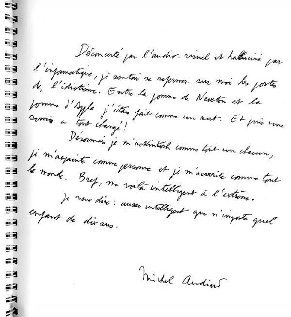 MacWrite préface Michel Audiard Apple 1983