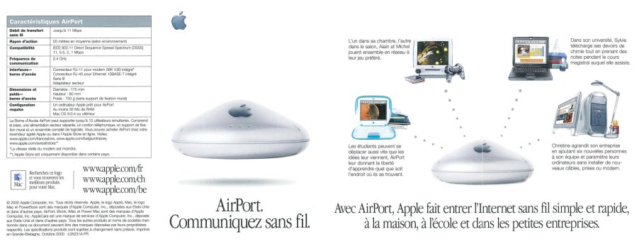 Apple AirPort brochure française 2000