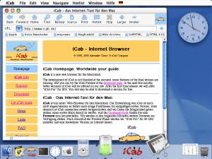 iCab pour MacOS X en 2000