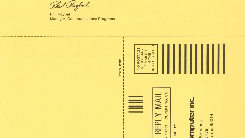 Apple 1980 Registration and Warranty Card