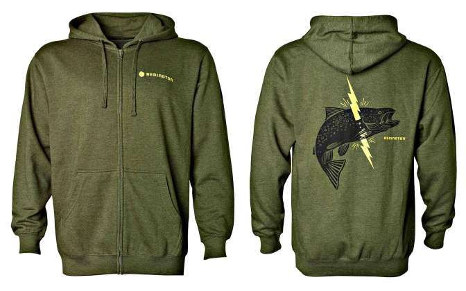 Redington Lightning Trout Zip Up Hoodie highlights