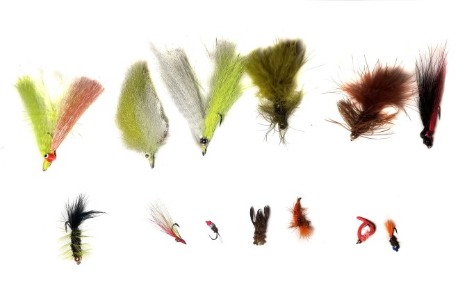 Top Row: Some of my 1st fly's; Bottom Row: Some of my recent fly's