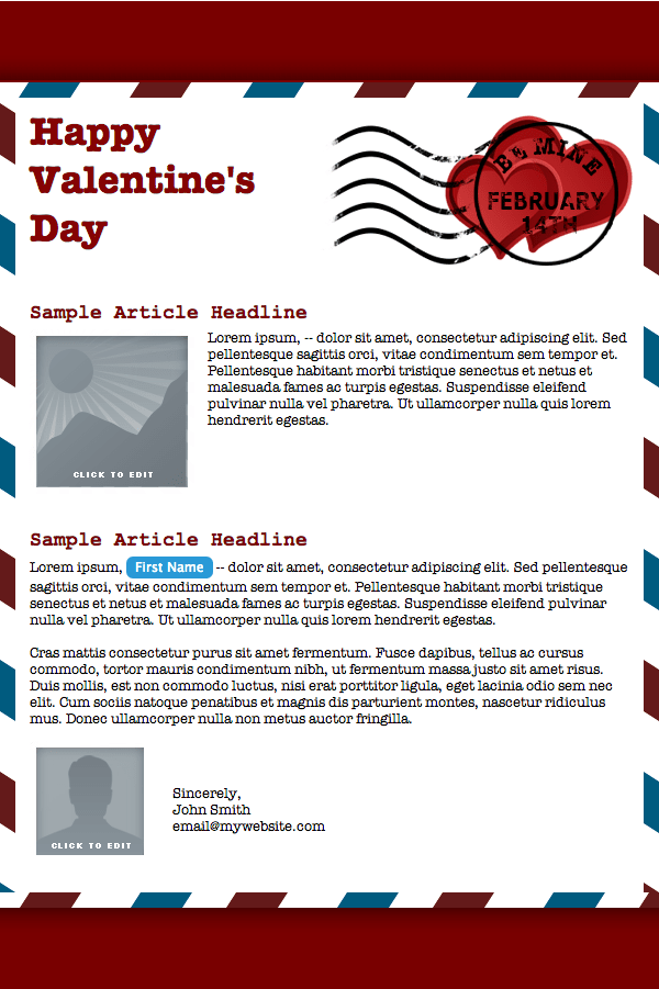 New Email Templates For Our Valentines You Email