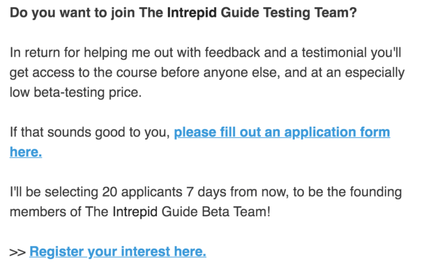 The Intrepid Guide testing team email