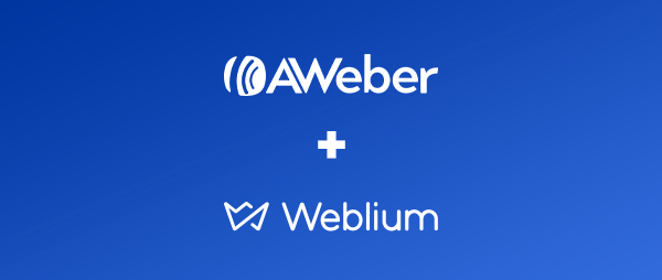 AWeber +Weblium logo