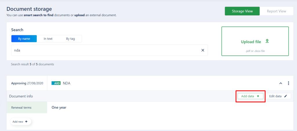 Adding metadata to your document in AXDRAFT