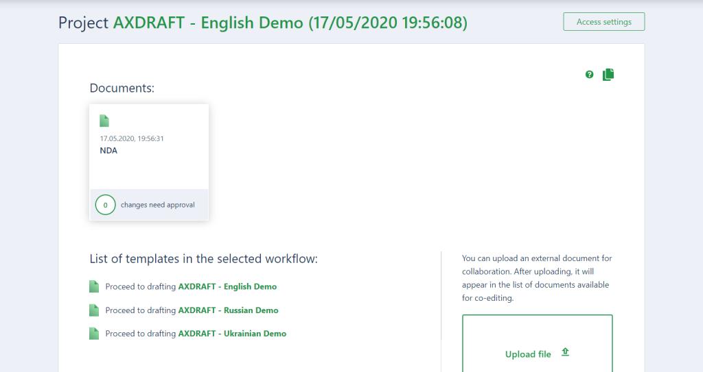 AXDRAFT Project