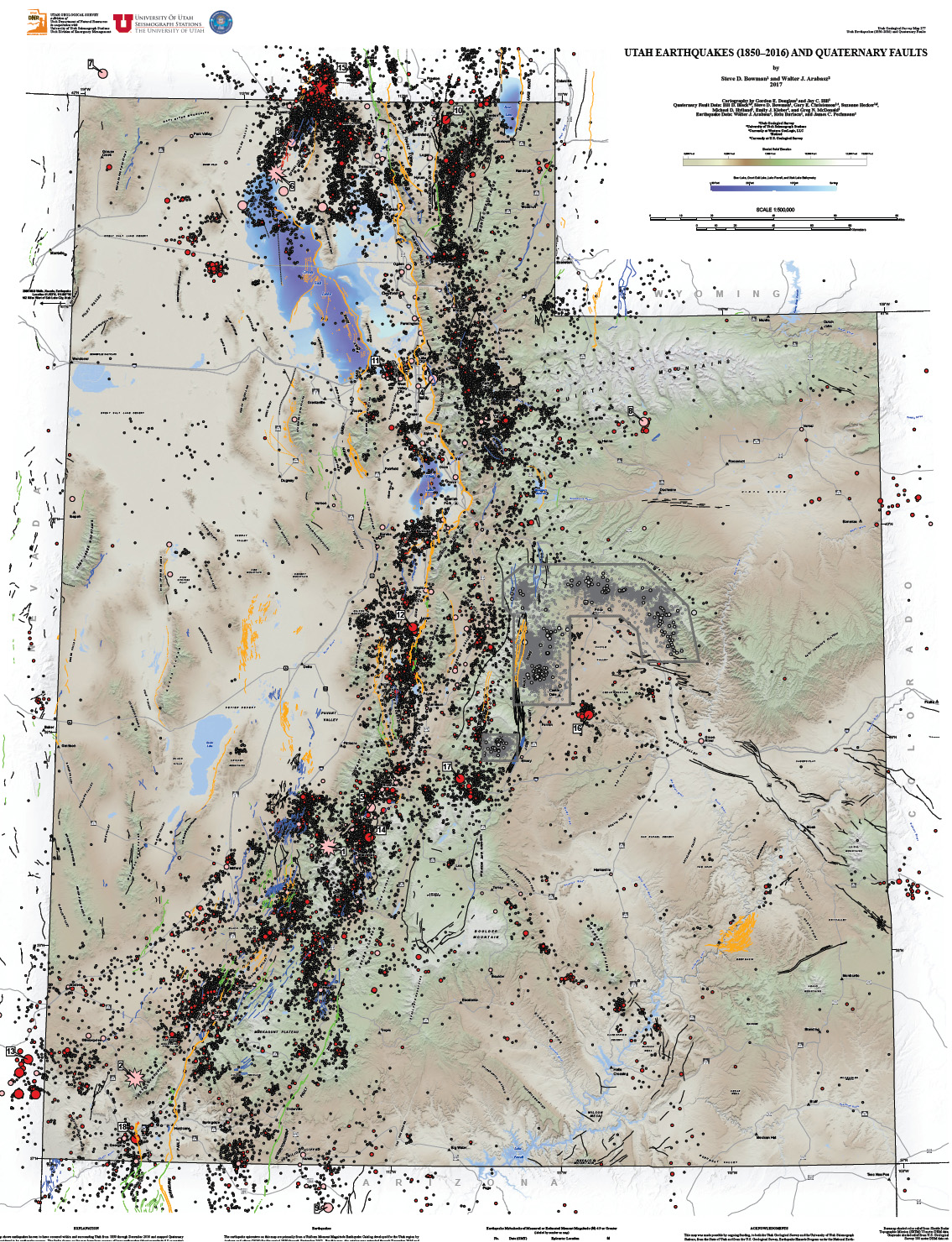 Utah Earthquakes And Quaternary Faults