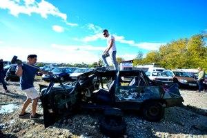 smash car - Activité insolite à Budapest
