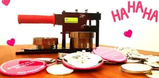 Machine à badge pour faire magnet frigo, badge rond, décapsuleurs,