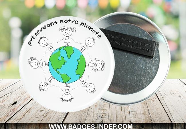 Un badge personnalisé pour promouvoir le recyclage