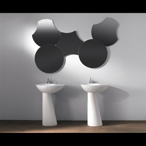 6 COGLIATI - lavabi COQUE con specchi SHAPE