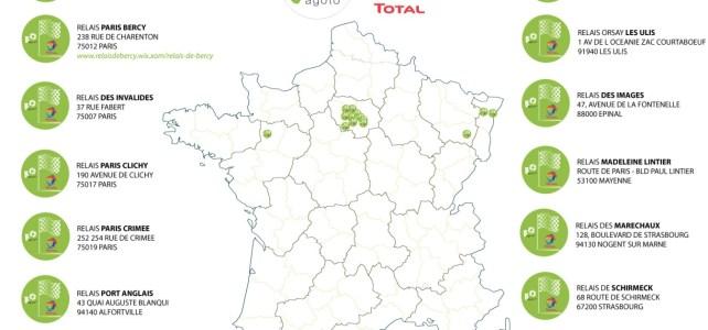 carte des-relais Total avec Bagoto en France