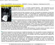 """Article dechetcom.com - Dépêche """"Adieu les voitures poubelles..."""""""