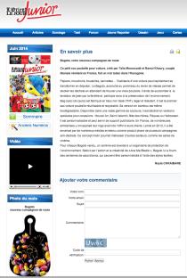 """Article presse """"L'Orient Le Jour Junior"""""""