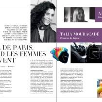 Parution dans le magazine La Parisienne supplément mensuel du journal Le Parisien — Portraits de femmes qui innovent. Merci Catherine Rambert pour ce beau portrait dont je suis honorée et cette superbe double page mettant en avant l'innovation au cœur de la Foire de Paris, toujours dans l'esprit de@laparisienne, le féminin qui se distingue ! #laparisienne #bagoto #taliamouracade #foiredeparis #lefemininquisedistingue #innovation #frenchy #paris #trendy #lemust