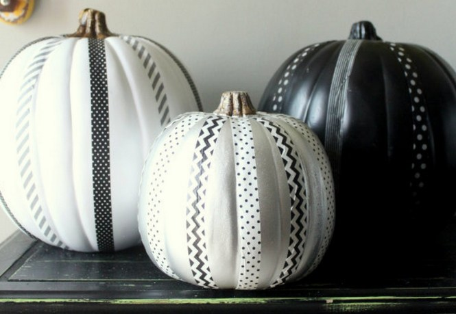 Easily Embellish Pumpkins With Ribbon