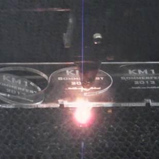 Der Lasercut in Aktion.