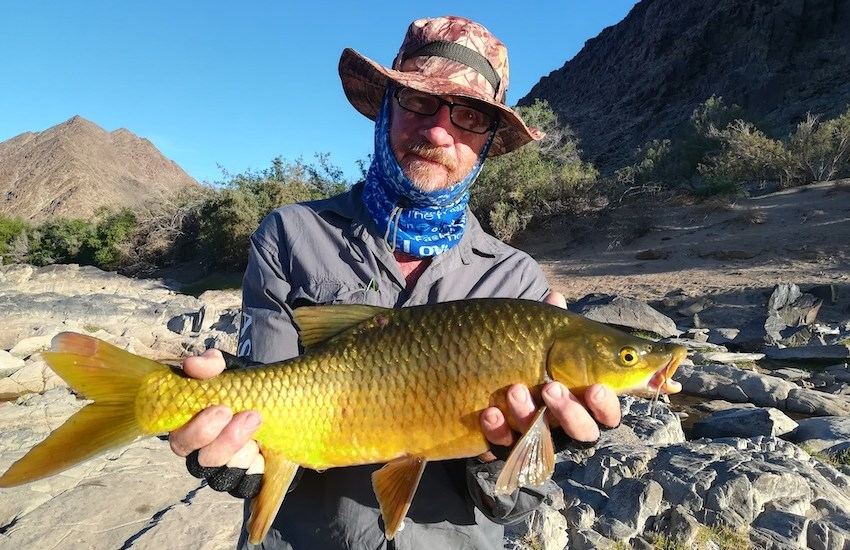 The author with a smallmouth yellowfish