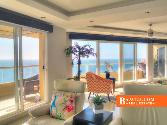 Oceanfront Condo in Tower Perla, La Jolla Real, Rosarito Beach