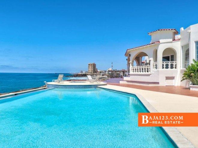 Oceanfront Home For Sale in Castillos del Mar, Playas de Rosarito