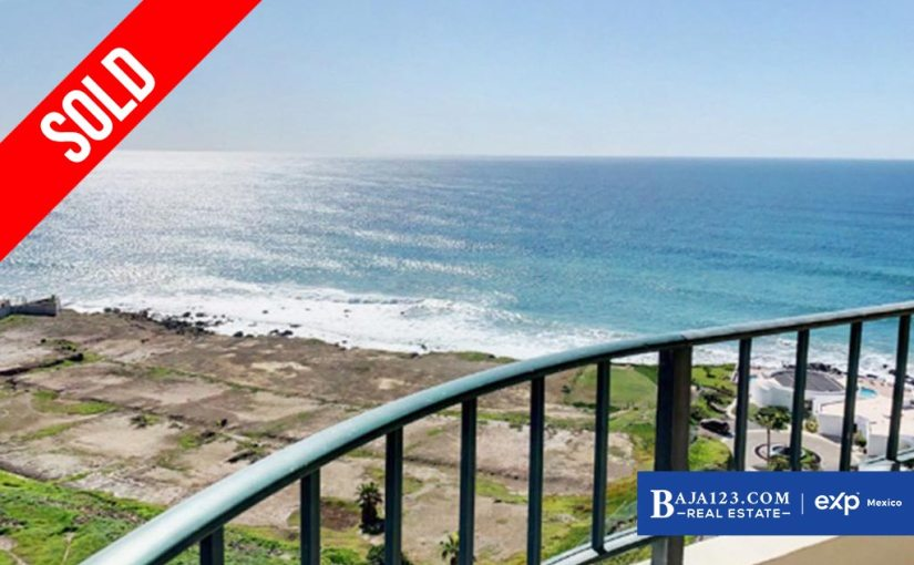 SOLD – Oceanfront Condo in Calafia Resort and Villas, Rosarito Beach – $189,000 USD