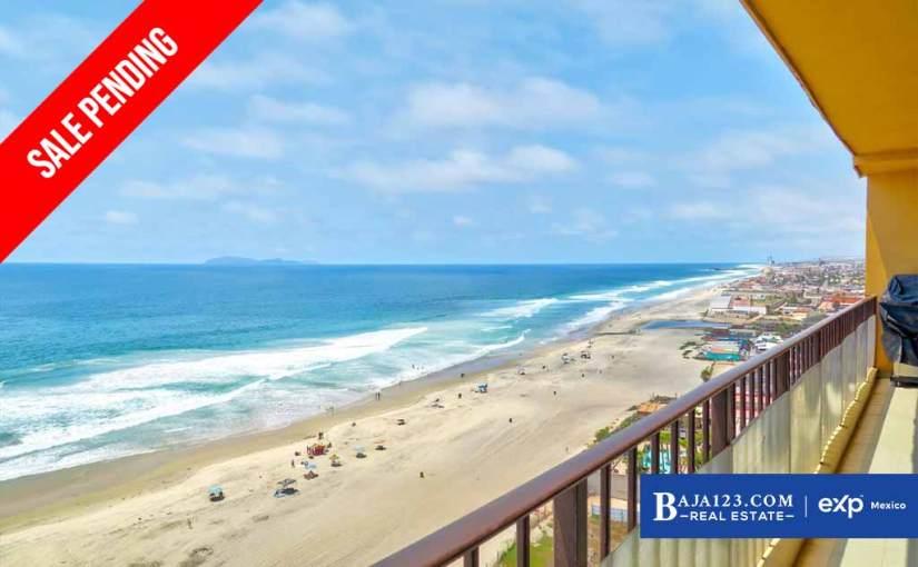 SALE PENDING – Oceanfront Condo For Sale in La Jolla de Rosarito, Rosarito Beach – $297,000 USD