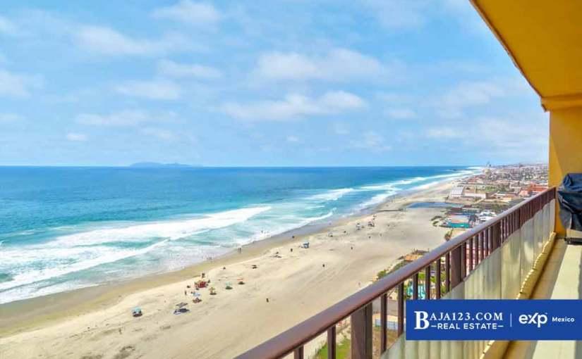 Oceanfront Condo For Sale in La Jolla de Rosarito, Rosarito Beach – $297,000 USD
