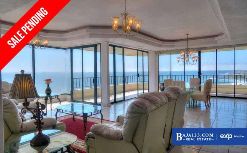 SALE PENDING – Oceanfront Condo For Sale in Calafia Resort and Villas, Rosarito Beach – $335,000 USD